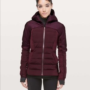 NWT lululemon down for it all jacket dark adobe XS